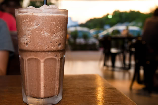 ice chocolate blended